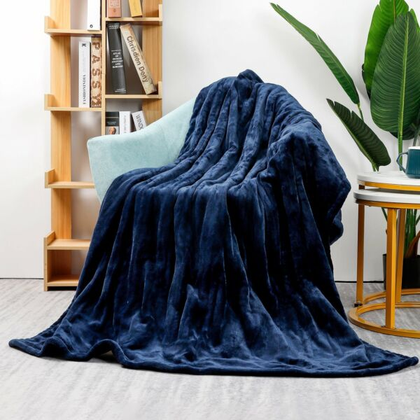 Homde Heated Electric Throw 50x 60 Inch Flannel Washable with 3 Heat Setting $46.99