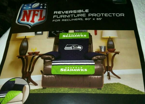 NFL Seattle Seahawks Reversible Furniture Protector for Recliner 80quot; x 65quot; $20.00