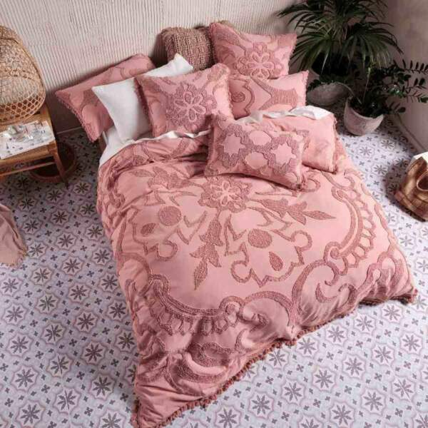 Linen House Rapallo Blossom 100% Cotton Quilt Cover Duvet Doona Set Super King AU $319.99