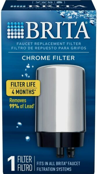 Brita On Tap Water Filtration System Filters For Faucets Chrome Filter 1 Count