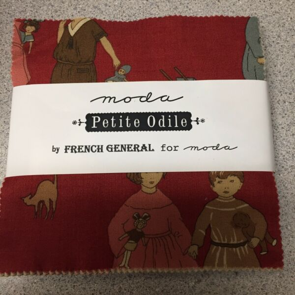 Petite Odile French General Moda Fabric Squares NEW Charm Pack Discontinued