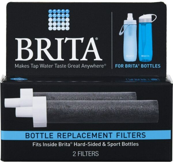 Brita Water Bottle Filter Replacements BPA Free 2 Count Set Pack of 2