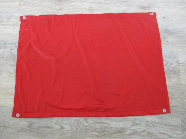 Small Plain Red Material Flag with Metal Eyelets 7 GBP 3.45
