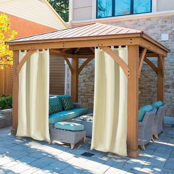 Outdoor Single Window Curtain Panel 50x120Inch for Patio Waterproof Easy To Hand $25.99