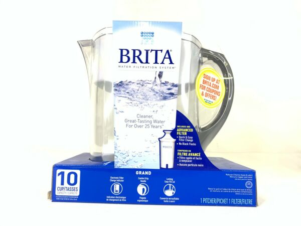 Brita Water Filtration System Pitcher with Filter 10 Cup Capacity Read Descript