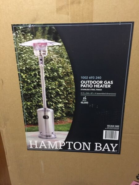 Hampton Bay 48000 BTU Stainless Steel Patio Outdoor Heater NEW FREE SHIPPING