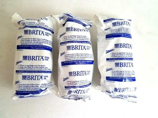 Brita Water Pitcher Replacement Filters White 3 Pack Brand New