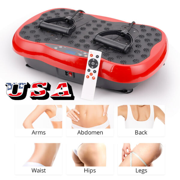 Vibration Plate Whole Body Exercise Trainer Machine Platform Massager RED $89.70