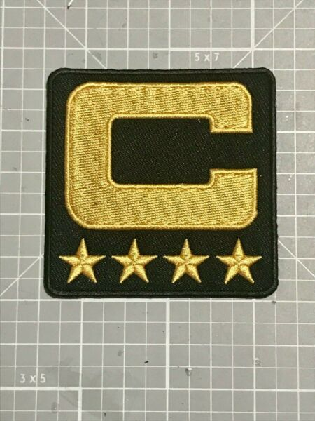 OAKLAND RAIDERS GOLD amp; BLACK 4 CAPTAIN JERSEY PATCH SEW IRON ON 2.3 4quot; NEW🔥