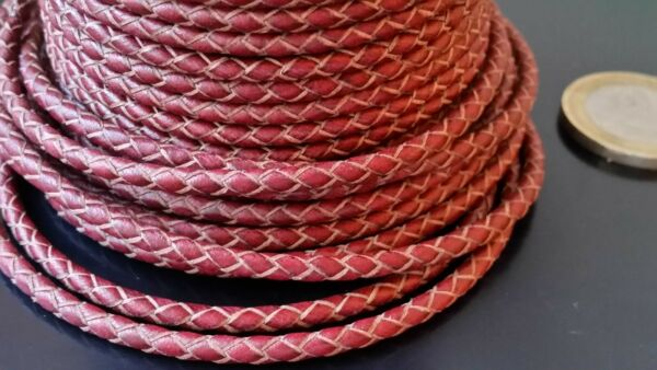 Offer 2x1 Of 1 To 131 3 12ft Cord Plaited Leather 0 1 8in Brown Brass CC3 01 $4.15