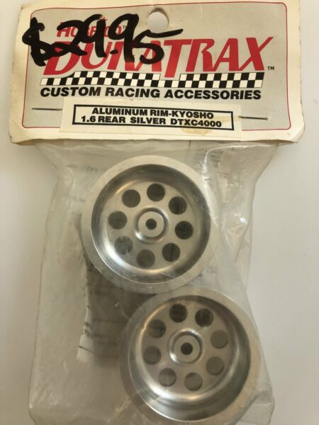 Duratrax Vintage Aluminum Rim 1.6 Rear Silver for Kyosho DTXC4000 $49.99