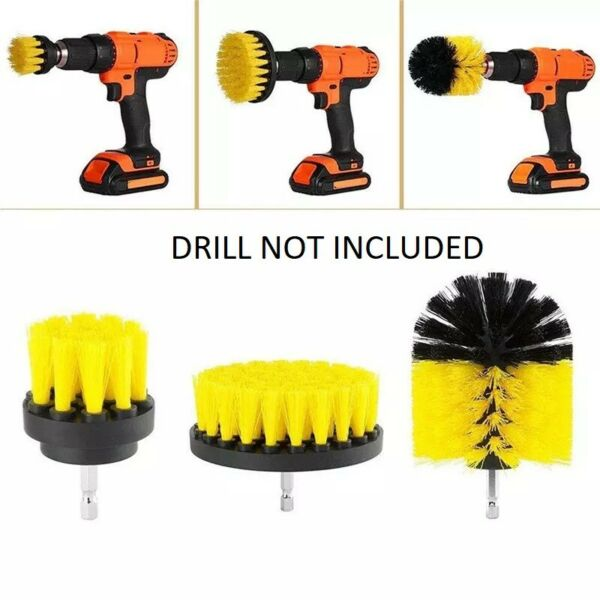 3pcs Drill Brush Power Scrubber Attachments For Carpet Tile Grout Cleaning US