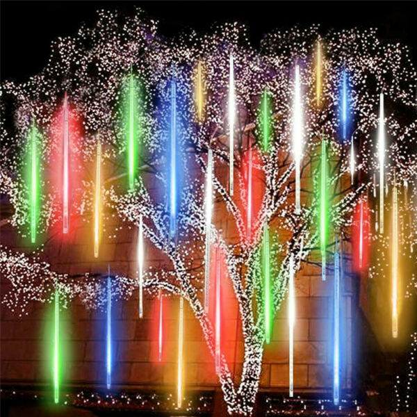 288 LED Solar Lights Meteor Shower Rain Tree String Light Garden Party Outdoor