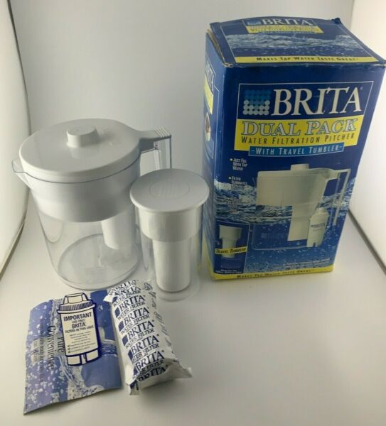 Brita Water Filtration Pitcher With Travel Tumbler NEW