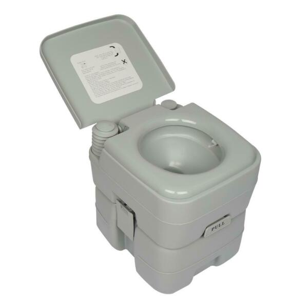 Outdoor Indoor Portable 20L 5 Gallon Toilet Flush Commode Camping Commode Potty