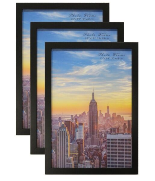 Frame Amo Black Wood Picture Frame or Poster Frame 3 PACK 61sizes Refurbished