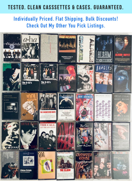 You Pick Cassette Tapes Lot: 80s 90s New Wave Synth Electronic Post Punk