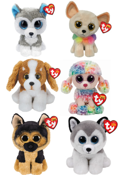 Ty Beanie Boos Babies 6quot; Dog Rainbow Spirit Buff Chewey Slush Barker CHOICE $8.85