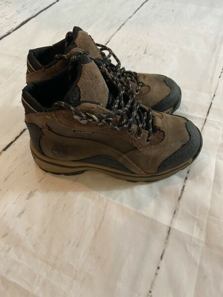 TIMBERLAND BOYS BOOTS BROWN LEATHER YOUTH SIZE 1 Youth $13.99