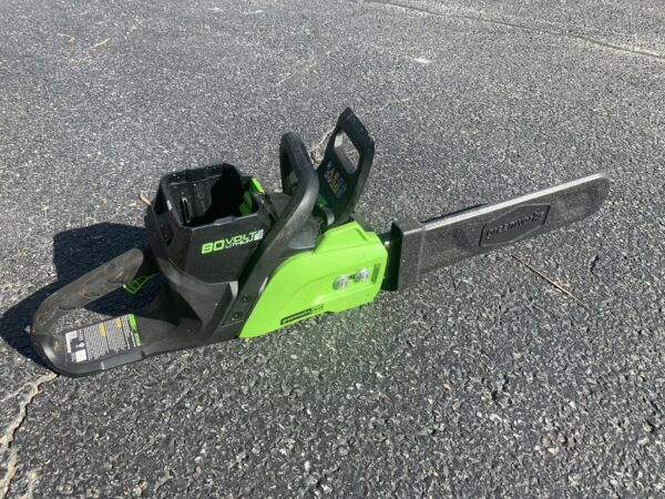 Greenworks Pro 16quot; 80V Brushless Chainsaw Tool Only CS80L01 80 Volt