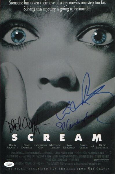 SCREAM Cast x4 Authentic Hand Signed quot;Drew Barrymorequot; 11x17 Photo JSA COA