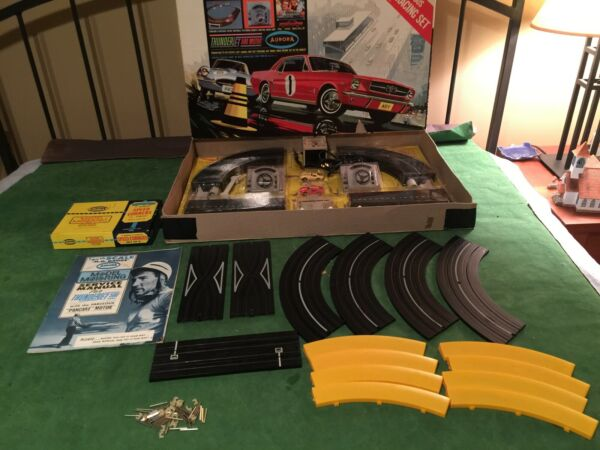 Aurora Stirling Moss Slot Car Set in Great Working Condition w Cars $329.00