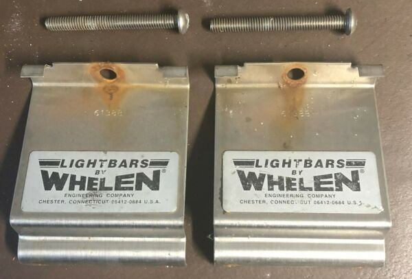 WHELEN EDGE LIGHTBAR MOUNTING GUTTER STRAP LIGHT BAR MOUNT BRACKETS