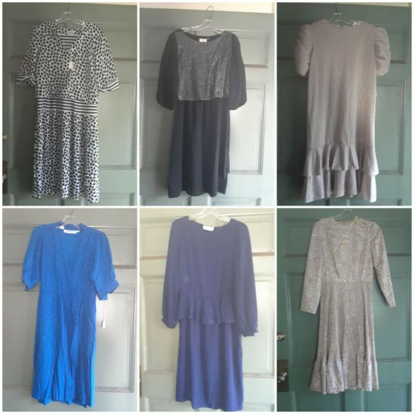12 vintage dresses lot size medium