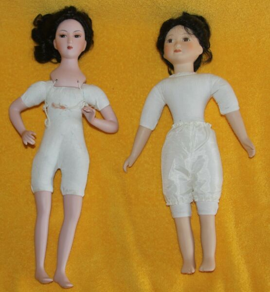 Vintage Lot of 2 CHINESE CATHAY COLLECTION PORCELAIN DOLLS 1 5000