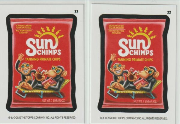 2020 Wacky Packages Online Cards Sun Chimps Coupon amp; Initial Back Set