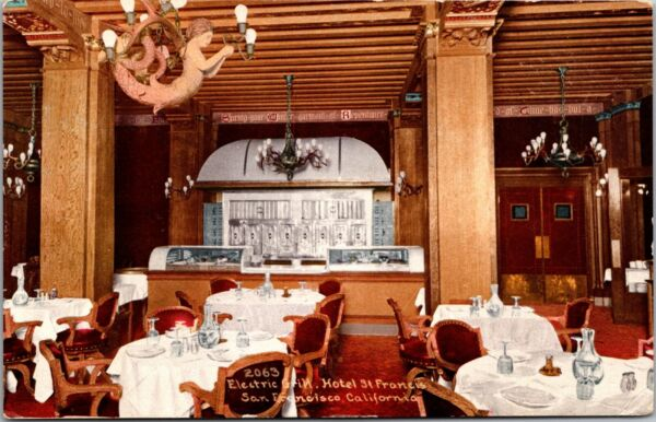 Postcard Electric Grill at Hotel St. Francis in San Francisco California 134462