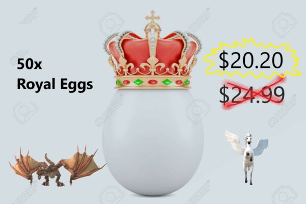 Roblox Adopt Me Royal Egg x50 *Unknown* Neon Fly Ride Pet for $20.20 $20.20