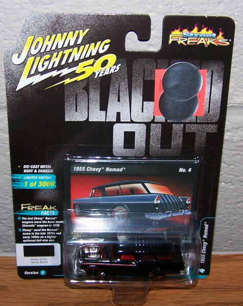 Johnny Lightning 1:64 Die Cast 1955 Chevy Nomad Blacked Out