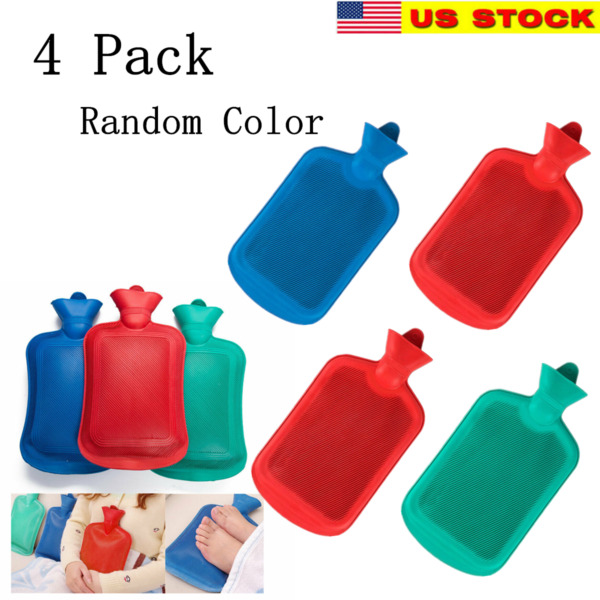 4x Rubber Heat Water Bag Hot Cold Warmer Relaxing Bottle Therapy Winter Thick $29.99