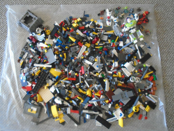 LARGE BOX OF LEGO PIECES AND MINI FIGURES...APPROX 12 POUNDS