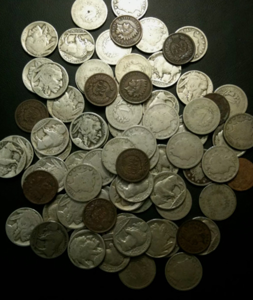 Old us coin lot buffalo nickels V nickels Indian head cents
