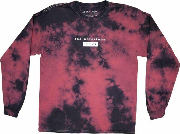 Mens The Notorious B.I.G. Biggie Ready To Die Red Tie Dye Rapper T Shirt Tee New $19.99
