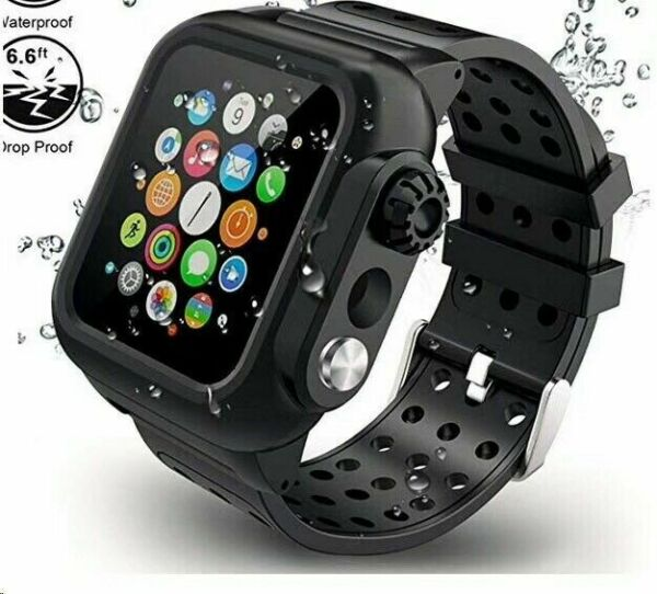 Waterproof Case with Band Strap For Apple Watch iWatch Series 6 5 4 3 2 1 SE $17.99