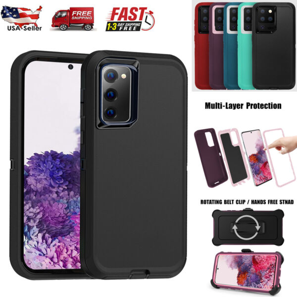 For Samsung Galaxy S20 FE S20 Ultra Rugged Case Cover Belt Clip Fits Otterbox $10.98