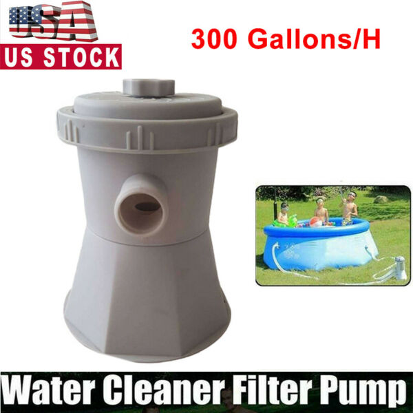 Electric Swimming Pool Filter Pump 300 Gal For Above Ground Pools Cleaning Tool $30.39