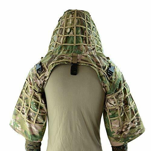 ROCOTACTICAL Sniper Ghillie Suit Foundation Ripstop Ghillie Viper Hood Cam...