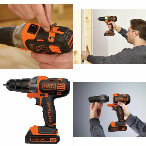 BLACKDECKER MATRIX 20V MAX Lithium Drill Driver BDCDMT120C