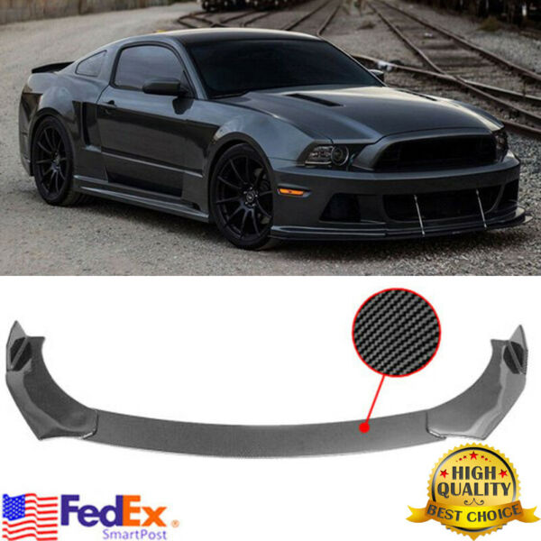 Carbon Fiber Look Front Bumper Lip Body Kit Spoiler For Ford Mustang 2000 2021 $59.99