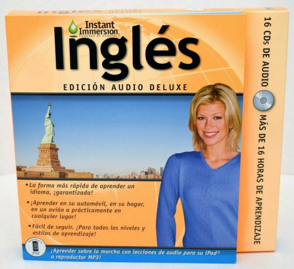 NEW Instant Immersion English Deluxe Edition Audio 16 CD Rom Ingles Edition v2.0 $9.99