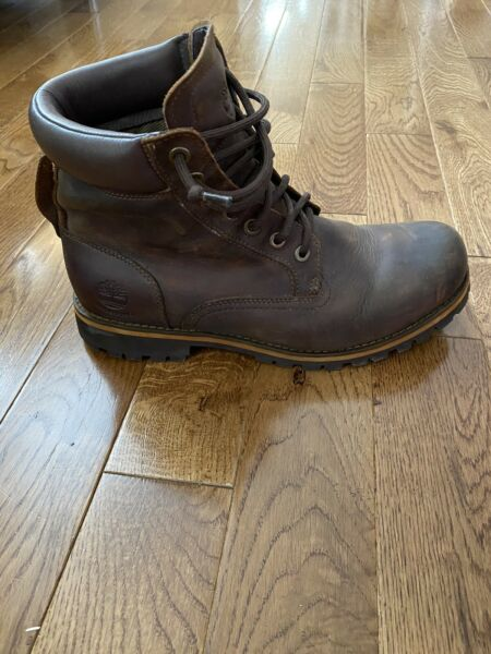 Timberland Earthkeepers Men Brown Leather Lace Up Trail Boots SIZE 9.5 M $85.00