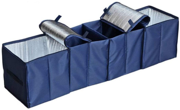 Car Trunk Organizer Storage Bag Foldable Collapsible SUV Cargo Bag 4 Compartment $27.79