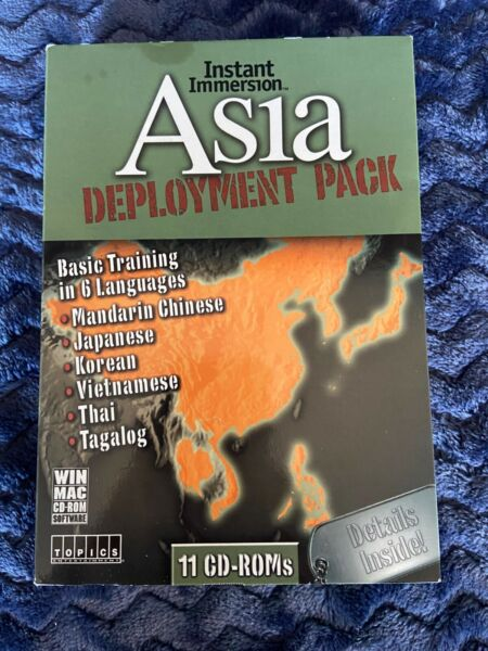 Instant Immersion: Asia Deployment Pack Windows Mac 11 CD ROMS $9.99