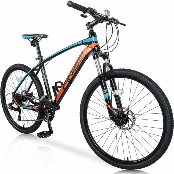 26quot; Aluminum Mountain Bike 24 Speed Mountain Bicycle with Suspension Fork Blue $529.99