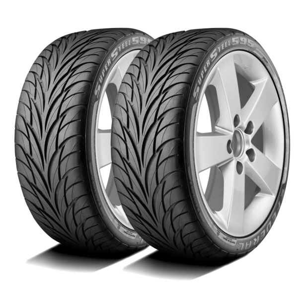 2 New Federal Super Steel 595 195 50R15 ZR 82W A S High Performance Tires