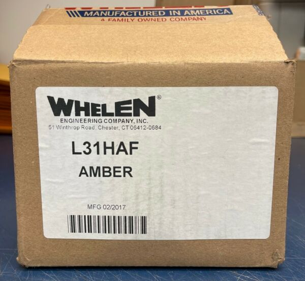 *NEW* WHELEN L31HAF AMBER SUPER LED BEACON HIGH DOME FLAT MOUNT 01 0685953 AFF
